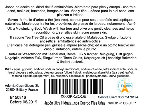Zoom IMG-1 sapone terapeutico tea tree olio