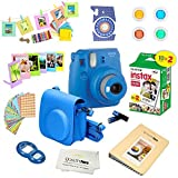 Fujifilm Instax Mini 9 Instant Camera Cobalt Blue w/Film and Accessories ? Polaroid Camera Kit