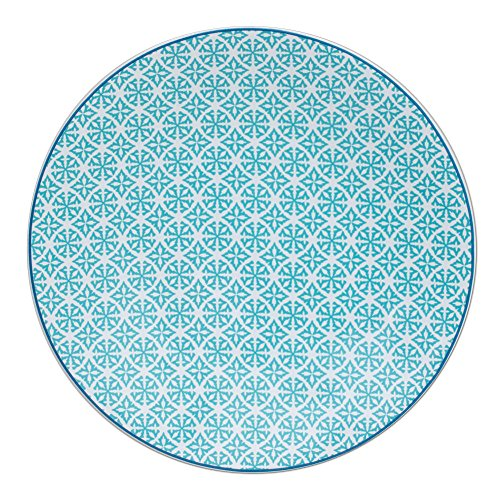 TABLE PASSION - ASSIETTE PLATE HELYSE 27CM VERT (LOT DE 6)