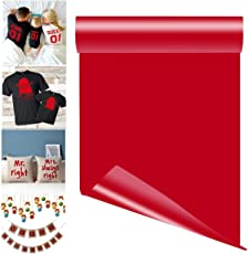 TOTAL HOME Heat Transfer Vinyl Sheet Iron on Adhesive T-shirts, Small(Red)