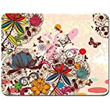 Meffort Inc Standard 7 X 9 Inch Mouse Pad Loving Bird Design Colorful Flower Butterfly