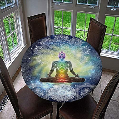 LLPZ Mantel Redondo Poliéster Meditación Moderna