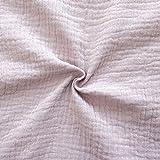 Unbekannt 100% Baumwolle Musselin Double Gauze Stoff Meterware Alt-Rosé