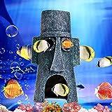 ETGtek(TM) 1pcs acuario Resina Casa Animales Acuáticos de la cueva decoración del ornamento para los pescados del tanque (Calamardo Pascua Inicio)