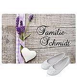Geschenke 24: Personalisierte Fußmatte Landhaus - Fußmatten mit Namen bedrucken - schönes Geschenk für die ganze Familie