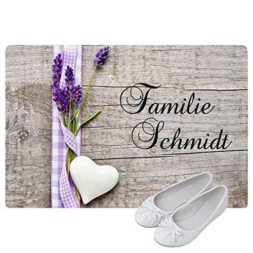 Preisvergleich Produktbild Geschenke 24: Personalisierte Fußmatte Landhaus - Fußmatten mit Namen bedrucken - schönes Geschenk für die ganze Familie