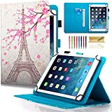 Dteck (TM) Étui universel pour Samsung Galaxy, tablette iPad d'Apple, Amazon Kindle, Google Nexus et plus 6.5–26,7 cm Tablette For 9.5-10.5 inch tablet 05 Eiffel Tower