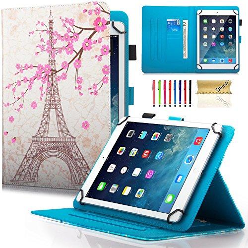 Dteck Schutzhülle für Samsung Galaxy Tablet, Apple iPad, Amazon Kindle, Google Nexus und weitere 16,5-26,7 cm (6,5-10,5 Zoll) Tablet 05 Eiffel Tower for 6.5-7.5 inch Tablet