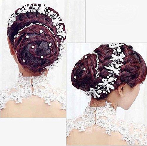 KHSKX-Koreanische Handgefertigter Keramik Blume Schmetterling Schmuck Braut Hochzeitskleid Hochzeit...
