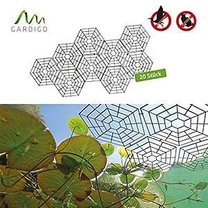 Gardigo 6008420 - Rete di Protezione/Maglia da Stagno Laghetto Piscina; in Plastica; Set di 20 reti Protettive per Pesci contro Volatili Uccelli Airone Gatti