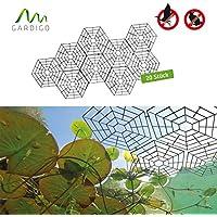Gardigo 6008420 - Red/Malla Protectora para Estanque; Protección contra Pájaros Aves Carpinteros Pichones Gorriones Gatos; 20 Piezas con clips