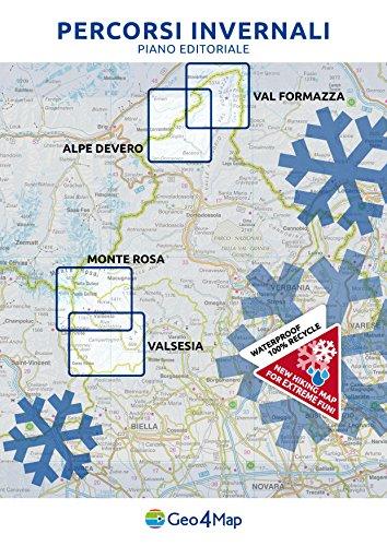 scaricare ebook gratis Percorsi invernali Valsesia. Val Vogna, Val Sorba, Alpe di Mera. Scala 1:25.000. Ediz. italiana, inglese e tedesca PDF Epub