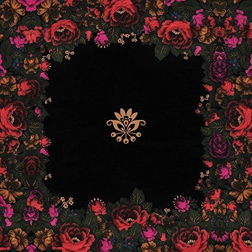 Apple iPhone 5 Housse étui coque protection Lena Hoschek Motif floral Fashionweek Sac Downflip noir