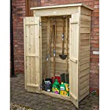 Forest Wooden Pressure Treated Pent Tall Garden, Patio Store, Shed Double Door