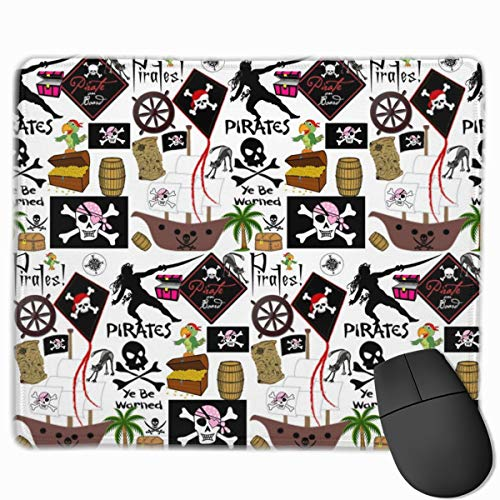 Lady Pirate_42173 Mouse pad Custom Gaming Mousepad Nonslip Rubber Backing 9.8