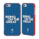 Official Team GB British Olympic Association Grid 1 Bring on The Great Red Fender Case for iPhone 6 Plus/iPhone 6s Plus
