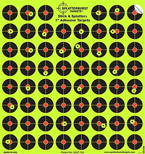 splatterburst Ziele–10Stück 2,54cm Stick & Splatter selbstklebend Reactive Zielscheiben–Gun–Gewehr–Pistole–Softair–BB Gun–Pellet–Air Gewehr