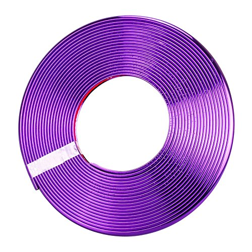 Auto-Radnaben-Kanten-Kantenschutz, 8M Dauerhafte Auto-Kanten-Kanten-Galvanisieren-Schutz Starker Reifen-Wächter-Aufkleber Praktischer Gummi-Streifen gepasst für alles Auto (Purple) Rim Protector