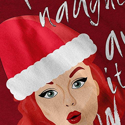 Frech Mädchen Weihnachten Sein Schlecht Damen S-2XL Muskelshirt | Wellcoda Rot