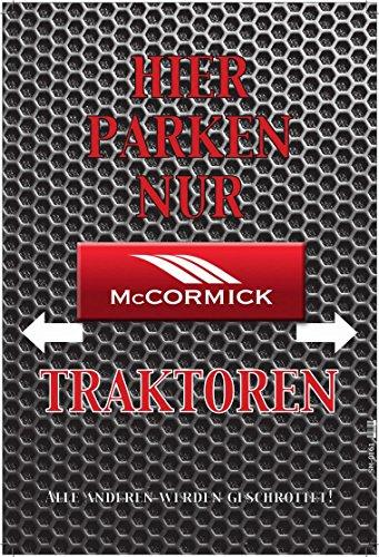 Hier Parken Nur McCormick Traktoren - Parking only blechschild auto motorrad park schild