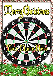 Dart Board und Pfeilen ptcc51Xmas Weihnachten Karte A5personalisierbar Karten geschrieben von uns Geschenke für alle 2016von Derbyshire UK...