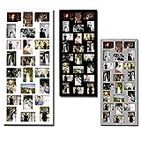 1x Bilderrahmen Fotogalerie Foto Collage Galerie Holz für 24 Bilder Weiß 9306