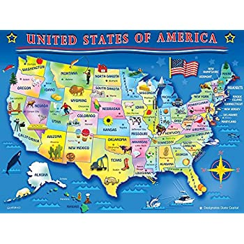 Springbok 3330506 USA Map Jigsaw Puzzle 60Piece Amazonco