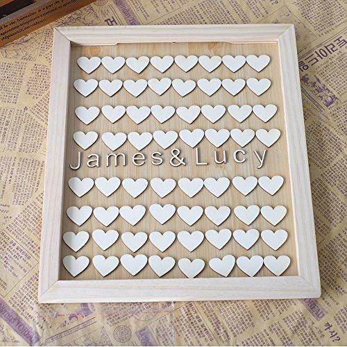 personalisiert Paare Namen Holz Gästebuch Auswahlfeld Rahmen Herzen Gäste Schild Custom Hochzeit Geschenke für Braut und Bräutigam