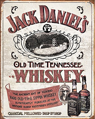 Daniels Blechschild Jack (Jack Daniels Pink Old Time Tennessee Whiskey Nr. 7Metall Wand Schild 15,2x 20,3cm Vintage Retro Poster Kunstdruck Bild)