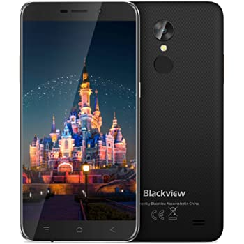 Blackview A10 UK SIM-Free Smartphone, Mobile Phones 5.0-Inch HD IPS Touch Display Android 7.0 System, 2GB +16GB Cheap Phones Unlocked, Quad Core Processor, Wifi /3G/ GPS