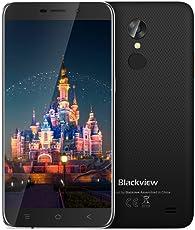 "Offerte Cellulari, Blackview A10 Smartphone Dual SIM, Android 7.0, 5,0""HD Quad-Core - 2GB RAM + 16GB ROM,2.0MP+5.0MP,2800mAh Cellulari in Offerta-Nero"
