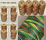 4x arcobaleno colore extra Strong grande rocchetti di filo in nylon mano quilting ricamo cucito in nylon per cucire accessori forniture regali ricamo fili