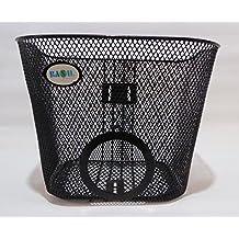Basil Cestino Anteriore con supporto della lampada alveolo cestino anteriore per bicicletta cestino nero