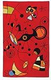 Zaida 1 Stück, 180 x 120 cm, Wolle, Baumwolle, Miro, Rot