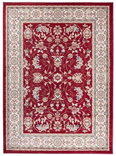 We Love Rugs - Carpeto Traditioneller Klassischer Teppich für Ihre Wohnzimmer - Rot Beige Creme - Perser Orientalisches Antik Ziegler Ornamente Top Qualität Pflegeleicht AYLA 250 x 350 cm Groß - Top Antik-creme