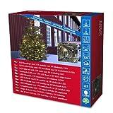 Konstsmide 3613-140 Micro LED Lichterkette/für Außen (IP44) / 24V Außentrafo / 200 warm weiße Dioden / 25 funkelnde Dioden/schwarzes Kabel