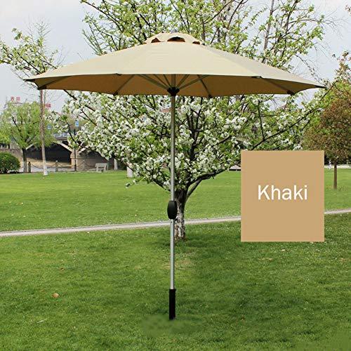 Ombrelloni da esterno, 8,8 piedi/con manovella/alluminio / 8 nervature/tessuto in poliestere 220 g, patio/balcone