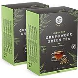 Marca Amazon - Happy Belly Select - Hojas selectas de té verde Gunpowder, Hojas de té sueltas, 2x200g