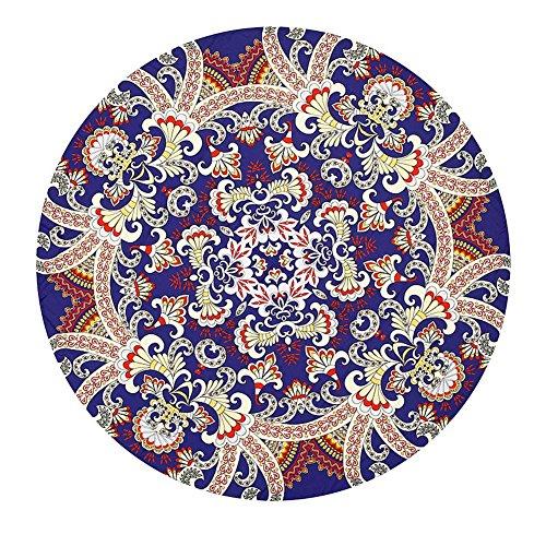 Stdz tovaglia tonda da spiaggia con stampa in boemia pattern tovaglia circolare yoga picnic mat, 135-175cm