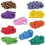 FTM 10 Stück Springseile 3m lang in 10 verschiedenen Farben, Seile, Tau, geflochten