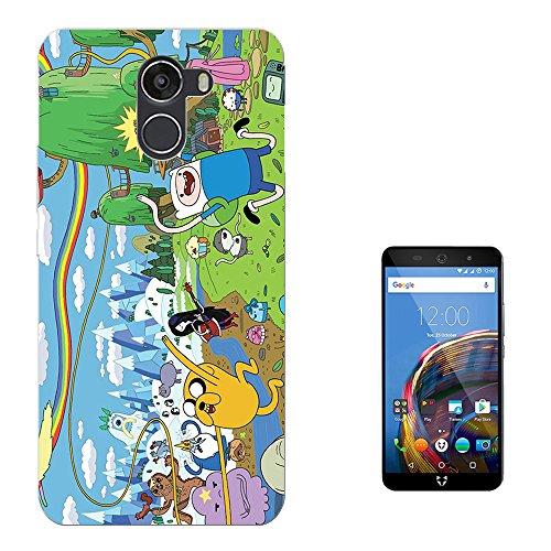 Moe-Cell-Funny-Adventure-Time-Cartoon-Design-Wileyfox-Swift-22-Plus-Carcasa-de-Gel-de-Silicona-Case-Cover