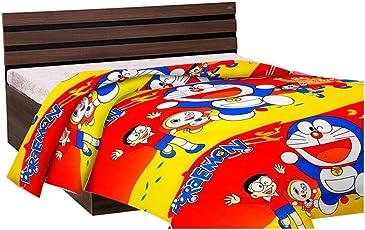 Handicraftworld Super Soft Cartoon Kids Design Print Reversible Dohar, Blanket, AC Dohar Best Gift for Kids (Single Bed)