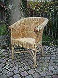 Rattan im Trend Sessel (Weidensessel) wie aus Omas Zeit Weide natur weiß