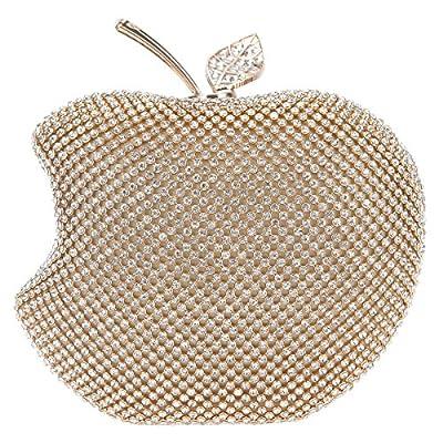 Bonjanvye Apple Shape Purse Brand Bags For Girls Handmade Clutches