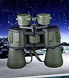 DHG 20X50 Binoculares de Alta Potencia de Alta Definición de Visión Nocturna No Infrarrojo Telescopio,Ejercito Verde