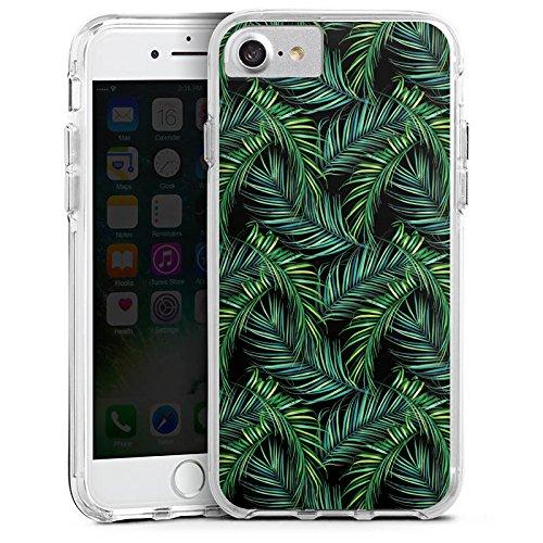 Apple iPhone 7 Plus Bumper Hülle Bumper Case Glitzer Hülle Palmen Dschungel Natur Bumper Case transparent