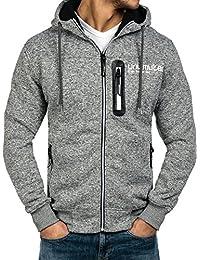 BOLF – Sweatshirt – Capuche – Fermeture éclair – Hoodie – Motif – Hommes – 1A1