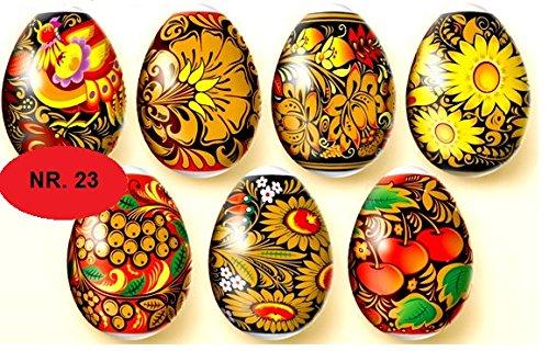 Ostereier Schrumpffolie. Hohloma. Chochloma-Malerei. Nr.23 reicht für 7 Eier