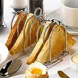 Chrome Horseshoe Toast Rack   Stainless Steel Toast Rack, Horseshoe Toast Holder