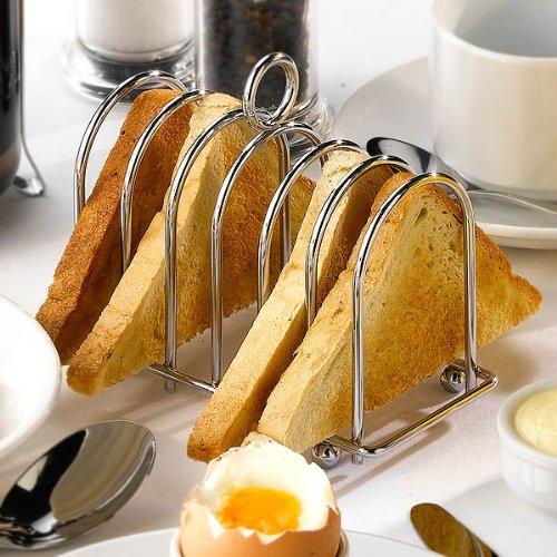 Genware Fer à Cheval Porte-Toast chromé-Toast/INOX, Fer à Cheval Porte-Toast